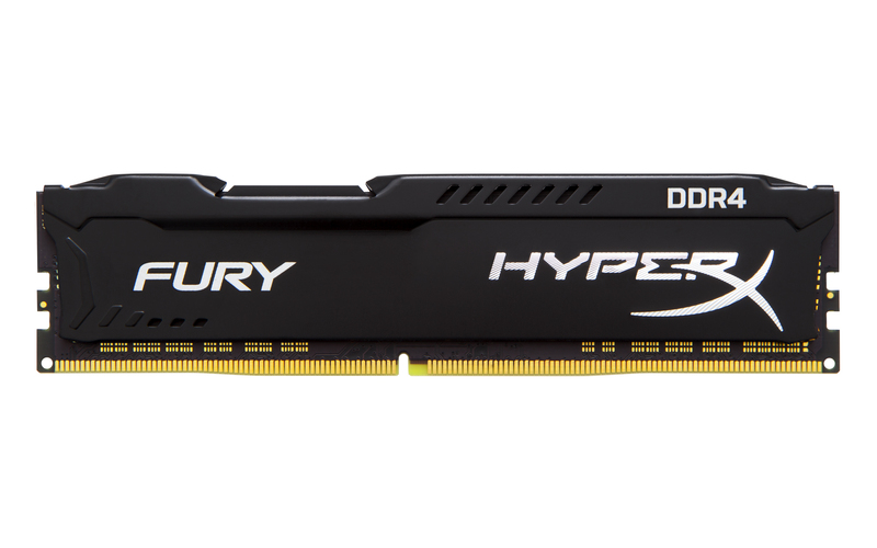 Kingston - Memória PC - Kingston Hyperx Fury Black HX434C19FB2/8 8Gb/3466MHz DDR4 memória